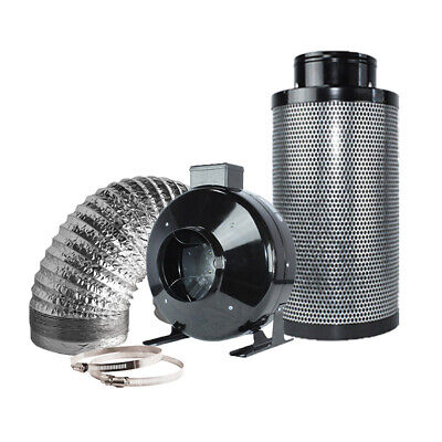 Hydroponics 6'' Activated Carbon Air Carbon Charcoal Filter Odor Control