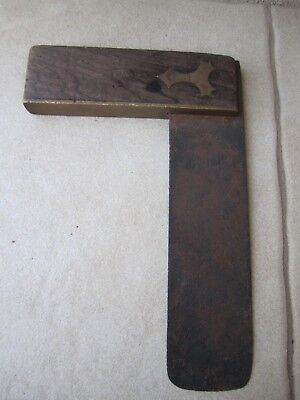 Vintage W.Mackay  G Pollock Vintage Square tool Timber/Brass fittings