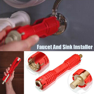 2018 New Faucet and Sink Installer tool Red Multitool Water Pipe Wrench Part Kit