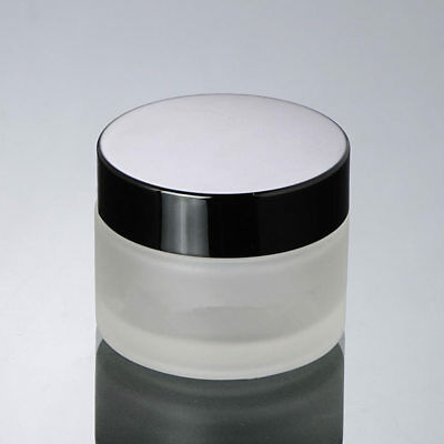 30g Glass Cream Jar Bottle Refillable Vial Cosmetic Packaging Container 12 piece