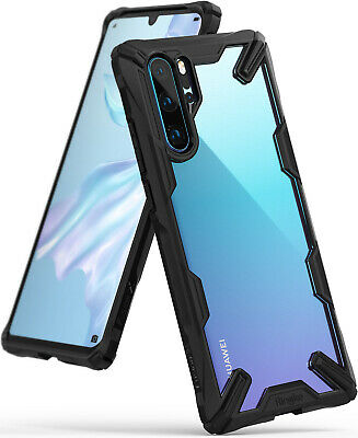 Huawei P30 Pro Case, Ringke [Fusion-X] Clear PC Back TPU Bumper Drop Protection