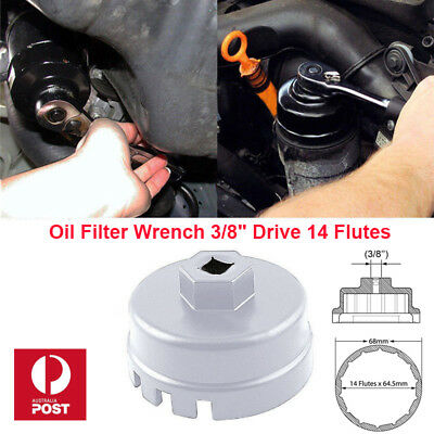 Oil Filter Wrench Cap Housing Tool Remover 14 Flutes 64.5mm For Toyota Lexus AU