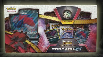 Pokemon Shining Legends Zoroark GX Special Collection Box INC Boosters & Promos