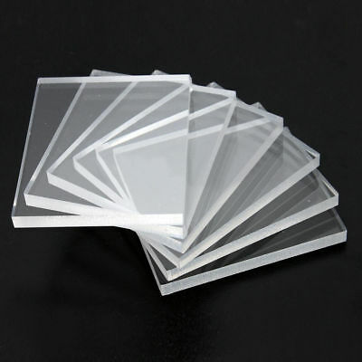 5mm Clear Acrylic Stamping Rubber Plexiglass Thin Blocks Pads Card Craft 6 Packs