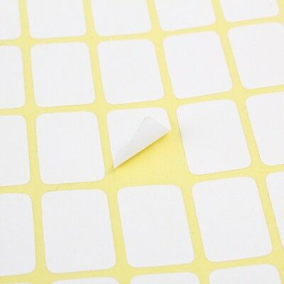 196 9 x13MM Price Stickers Tags Blank Self Adhesive 15 Sheet White Sticky Labels