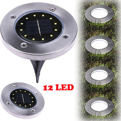 12LED Solar Power Buried Light Under Ground Lamp Outdoor Path Garden Decking NEW