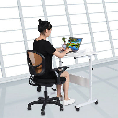 Sturdy Height Adjustable Computer Desk Laptop Table Office Mobility Work Station