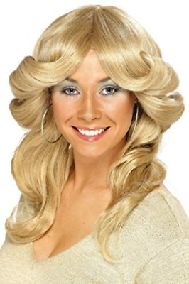 70s Flick Wig, Blonde, Long, Wavy & Layered  AC NEW