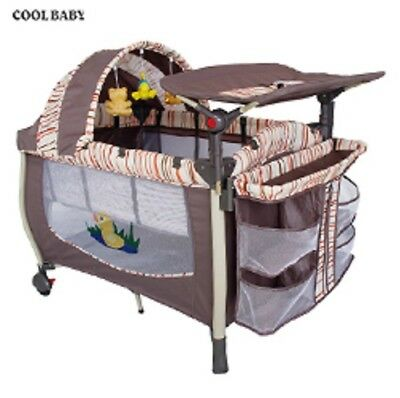 Baby Playpen Canopy with 3 toys /Storage Shelf/Diaper Changer