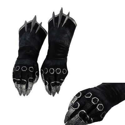 Black Panther Claw Cosplay Gloves Captain America 3 Civil War Costume Prop Adult