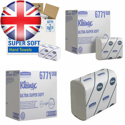 KLEENEX* ULTRA SUPER SOFT Interfolded Hand Towels 6771-30 packs x 96 white,...
