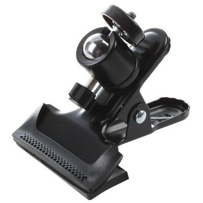 Metal Photo Studio Flash Spring Clamp Clip Mount With Ball Head--Black I3R8