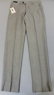 c0f9f08d8c2ed2 Ted Baker Men s Jefferson Flat Front Wool Trousers AB4 Light Grey Size 32R   225