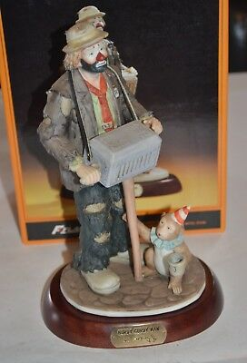 Flambro Emmett Kelly Jr. Hurdy Gurdy Man Limited Edition 0177 Of 9500