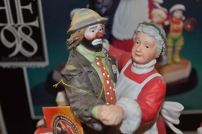 Flambro Emmett Kelly Jr. Spirit Of Christmas XV Limited Edition 98 Emmett Elite