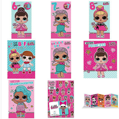 Lol Surprise Birthday Cards Assorted 159 Picclick Uk