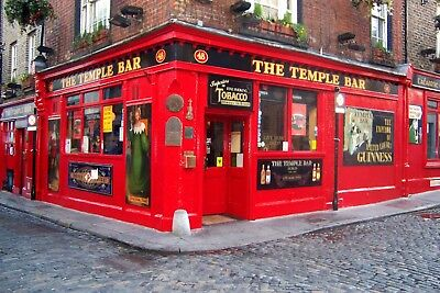 Photo-The Temple Bar-Dublin, Ireland-World Famous -Medieval Ambiance