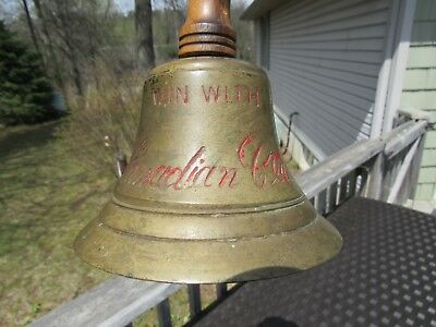 Vintage Original 1858 - 1920 ''win With Canadian Club '' Etched Brass Bell