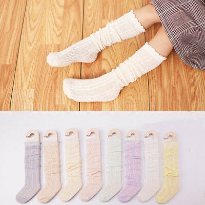 1 Pairs Infant Cotton Knee High Socks Simple Stockings for Baby Boys Girls Kids