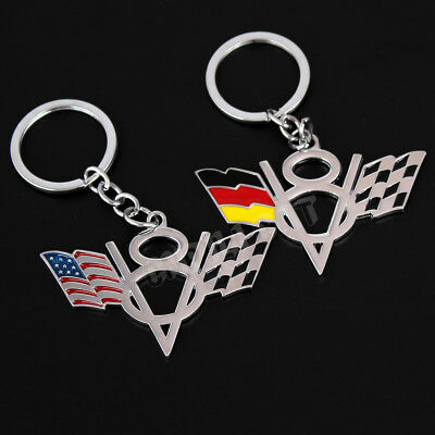 3D Corvette V8 Style Car Key Ring Key Chain for Chevrolet Corvette C6 C7 Z06 ZR1