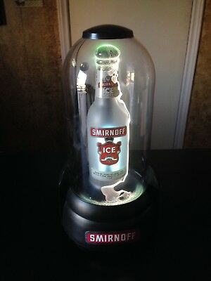 "Smirnoff Ice Vodka Plasma Light 14""  Lightening Bottle 1990's era Beer Whiskey"