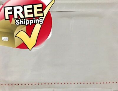 "500 10 3/4""x6 3/4"" Clear Packing List Envelope Perforated - Free Shipping"