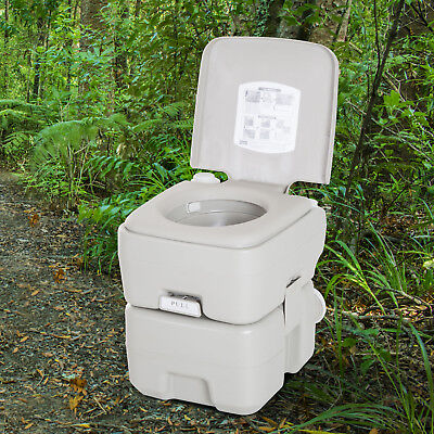 Portable Travel Toilet Flushable Tank Easy to Use 3 Way Pistol Outdoor Picnic