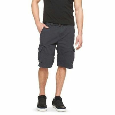 288d8573be MENS MOSSIMO SUPPLY Co. Belted Cargo Shorts NWT BLACK SIZE 30 - $9.99 |  PicClick
