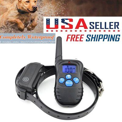 Dog Training Shock Collar W/Remote Control 100 Level Shock LCD Rechargeable