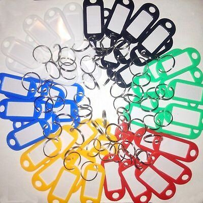 Key Tags, key chain / luggage labels (60 pack) mix and match any colour