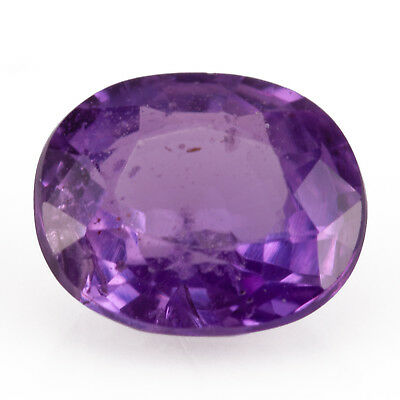 0.64ct Unheated Sapphire. A well cut oval gem with good purple colour and polish