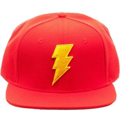Dc Comics Red Shazam Justice League 3D Bolt Logo Snapback Hat Cap Flat Bill 708c973a935d