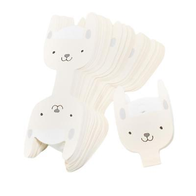 50x Cute Dog Kids Hair Clip Card Paper Display Cards Hairpin Packaging Cards