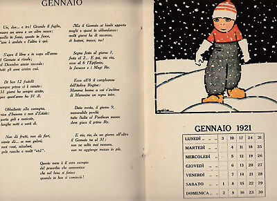 Calendario 1921.Calendario 1921 Per I Piccoli Illustrato A Colori Da Golia