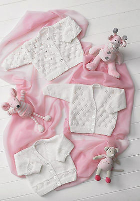 Knitting Pattern - 3 Different Style Baby/Toddlers Cardigans (5 sizes) PO176