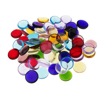 140pcs Assorted Color Round Glass Mosaic Tessera for DIY Mosaic Making 15mm