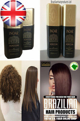 Inoar Moroccan Brazilian Keratin Treatment Blow Dry for Smoothing (2 X 250 ML)