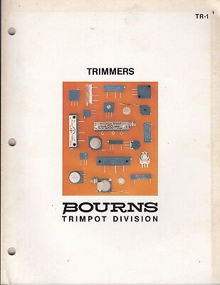 1979  TR-1 Bourns Inc Catalog ~ Trimpot Trimmers ~ Selection Guide 90 PAGES /fh