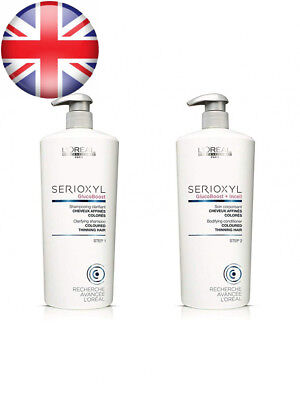 Loreal SERIOXYL Hair Loss System Thickening Shampoo and Conditioner Salon...