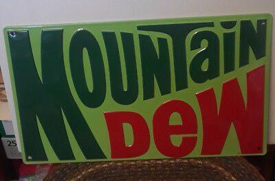 Mountain Dew Rectangle Metal Sign - New
