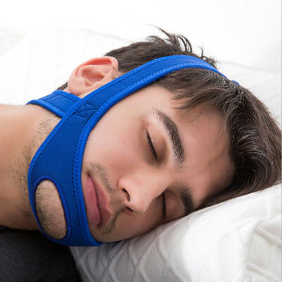 Snore Belt Stop Anti Snoring Cpap Chin Strap Quiet Sleep Apnea Jaw Solution WW