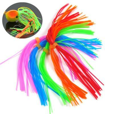 Five colors of silicone skirts for spinnerbaits, buzzbaits, jigs or squid skirts