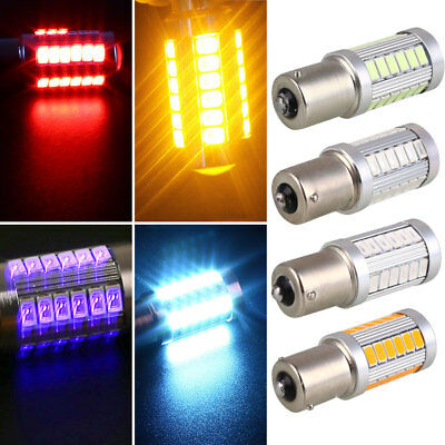 Parking Tail Car Turn Signal Light Bright 33 SMD BA15S 1156 Rear Auto