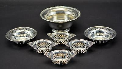 Birks Sterling Silver 4 Nut 2 Bon Bon & 1 Sauce Dishes
