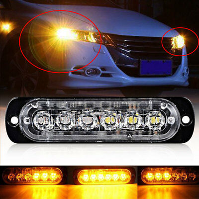Reverse Lamps Car Tail Lights Super Bright 6LED Strobe Marker Lights Motorcycle