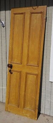 Antique Pine Wood Door ~Bennington Door Knobs~~ Great Repurpose Item