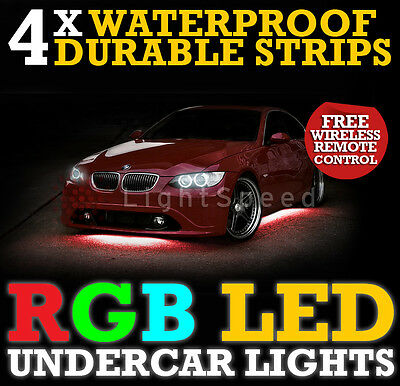 Universal Undercar Led Lighting Rgb Thick Durable Strips 6 Colours - Free Remote  sc 1 st  PicClick UK & UNIVERSAL UNDERCAR LED Lighting Rgb Thick Durable Strips 6 Colours ...