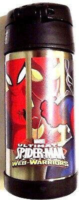 Thermos! Ultimate Spider Man! Funtainer! Stainless Steel Insulated Straw Bottle!