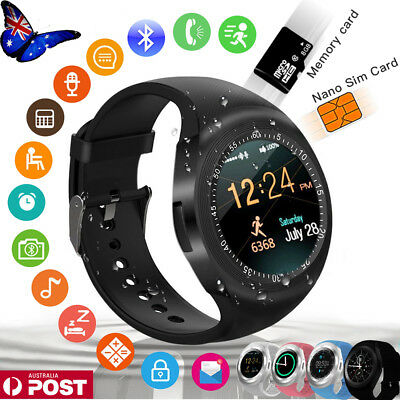 Waterproof Y1 Smart Watch SIM Camera Wristwatch for iPhone Samsung Android Phone