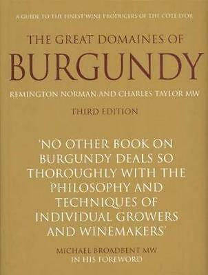 NEW The Great Domaines of Burgundy By Remington Norman Hardcover Free Shipping